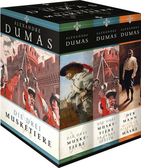 Die drei Musketiere. »Die drei Musketiere«, »Die drei Musketiere - 20 Jahre später«, »Der Mann mit der eisernen Maske«. Drei Bände in Kassette.