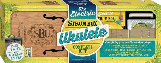 Die elektrische Strum-Box-Ukulele.
