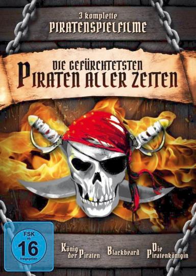 Die gefürchtetsten Piraten aller Zeiten auf 3 DVDs