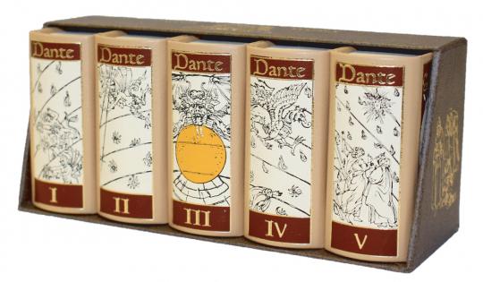 Die göttliche Komödie 5 Bände - Leder-Miniaturausgabe