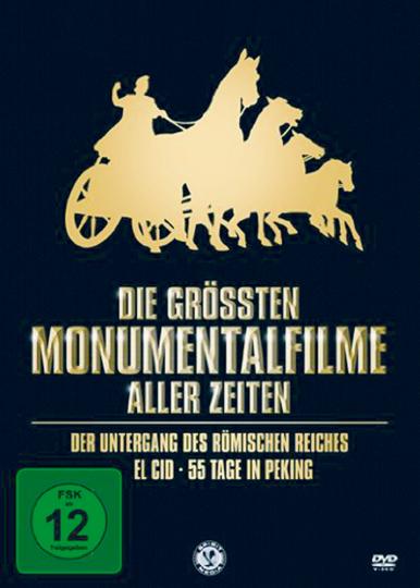 Die größten Monumentalfilme aller Zeiten. 3 DVDs.