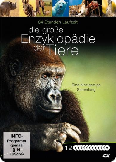 Die große Enzyklopädie der Tiere. 12 DVDs.