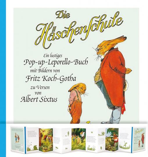 Die Häschenschule: Ein lustiges Pop-up-Leporello-Buch