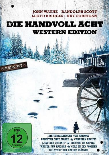 Die Handvoll Acht. 8 Western. 2 DVDs.
