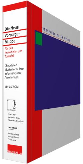 Die Neue Vorsorge-Mappe. Für den Krankheits- und Todesfall. Checklisten, Musterformulare, Informationen, Anleitungen. Mit CD-ROM und Online-Dienst.