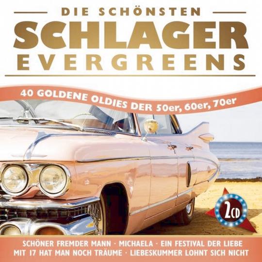 Die schönsten Schlager. Evergreens - 40 goldene Oldies der 50er, 60er, 70er. 2 CDs.