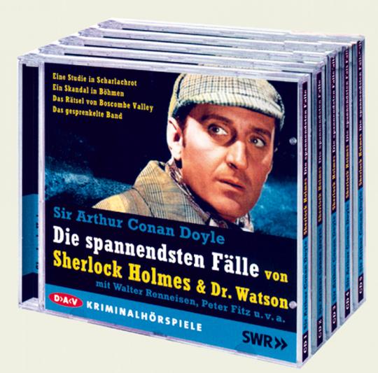 Die spannendsten Fälle von Sherlock Holmes und Dr. Watson 5 Cds - Zum 150. Geburtstag von Sir Arthur Conan Doyle