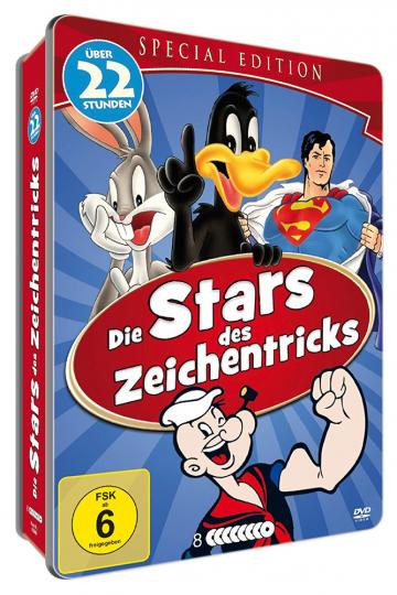 Die Stars des Zeichentricks. 8 DVDs in Metallbox.