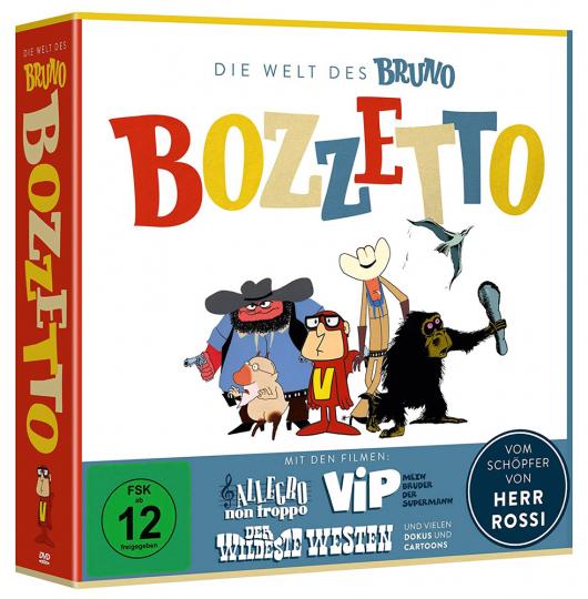 Die Welt des Bruno Bozzetto. 4 DVDs.