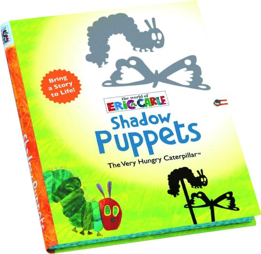 Die Welt von Eric Carle. Die kleine Raupe Nimmersatt. Schattenspielfiguren.