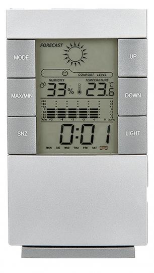 Digitaluhr mit Alarmfunktion und Wetterstation