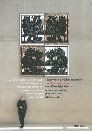 Diptychon der Märchenbrüder. Ein Riesenholzschnitt von Albert Schindehütte in seiner Entstehung.