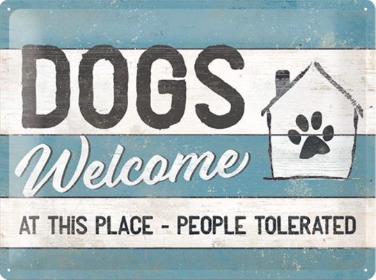 Dogs welcome at this place