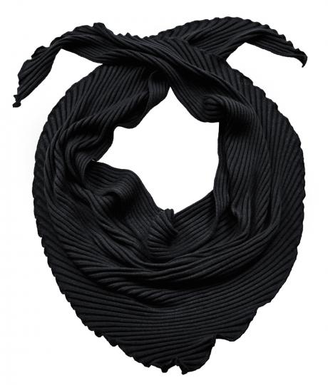 Dreieckstuch aus Wolle, schwarz.