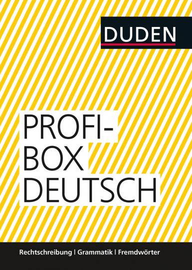 Duden - Profi-Box Deutsch. Rechtschreibung, Grammatik, Fremdwörter. 3 Bände im Schuber.