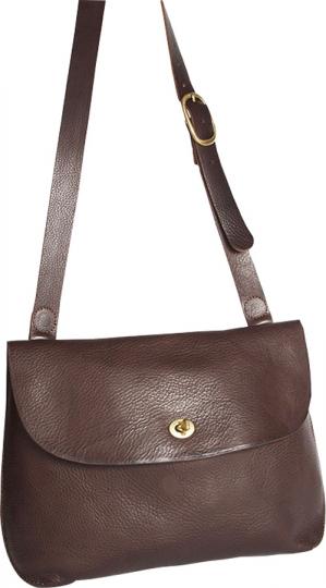 Dunkelbraune Handtasche »Jenny Bag«, klein.
