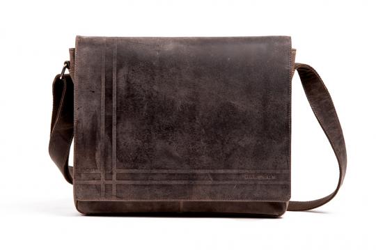 Dunkelgraue, mittelgroße Kuriertasche »Concaro«, Gr. M.