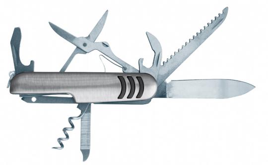 Edelstahl-Taschenmesser mit 15 Funktionen / Pocketknife