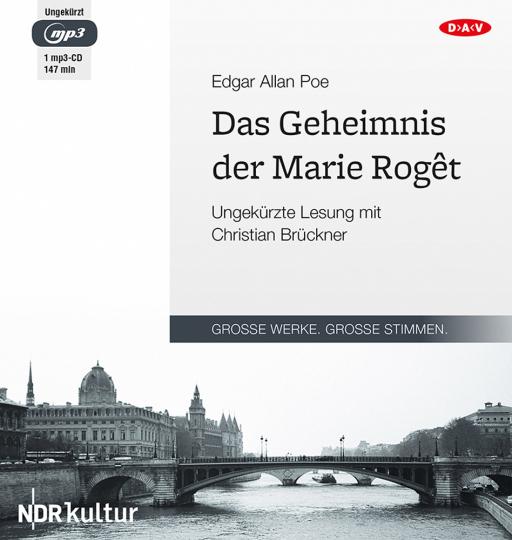 Edgar Allan Poe. Das Geheimnis der Marie Rogêt. Hörbuch. 1 CD.
