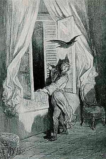 Edgar Allan Poe. Der Rabe. Illustriert von Gustave Doré.