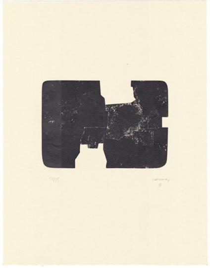 Eduardo Chillida. »St. Gallen 1968-1984« Lithografie 1984.