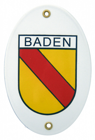 Emaille-Schild Baden