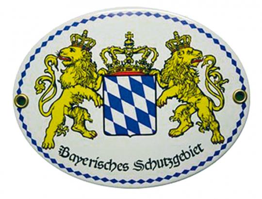Emaille-Schild Bayerisches Schutzgebiet