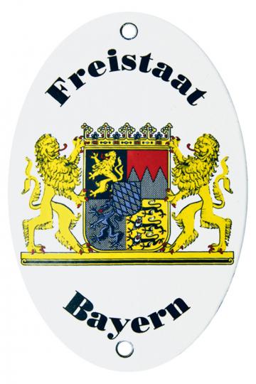 Emaille-Schild Länderwappen Freistaat Bayern