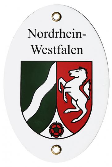 Emaille-Schild: Länderwappen Nordrhein-Westfalen