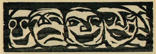 Emil Nolde. Fünf Masken.