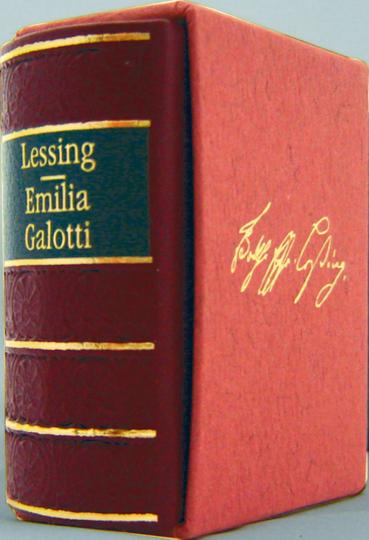 Emilia Galotti - Leder-Mini-Ausgabe im Schmuckschuber
