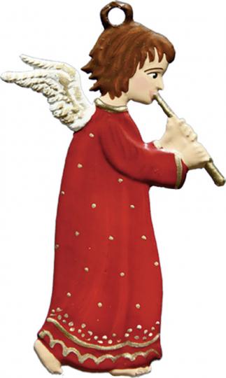Engel mit Flöte. Zinnanhänger.