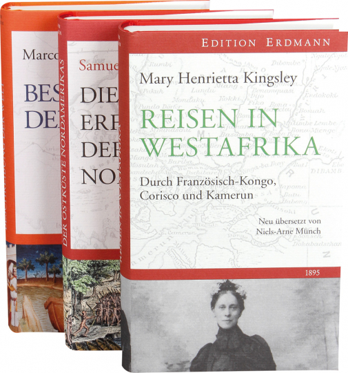 Entdeckerliteratur und historische Reiseberichte. 3 Bände im Paket.
