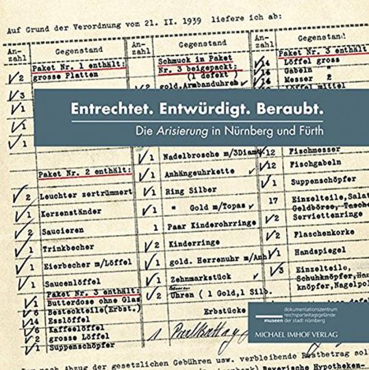Entrechtet. Entwürdigt. Beraubt. Die Arisierung in Nürnberg und Fürth.