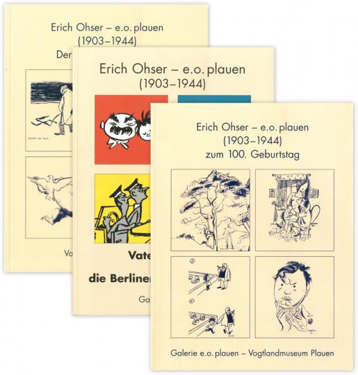 Erich Ohser. e.o.plauen. 3 Bände im Set.