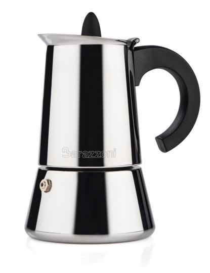 Espressokocher aus Edelstahl.