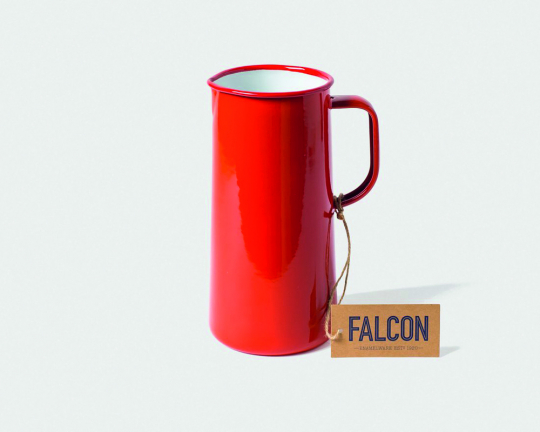 Falcon Emaille-Karaffe, rot.