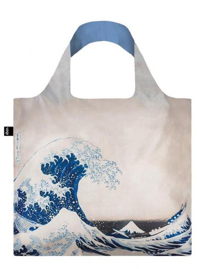 Faltbare Tragetasche Hokusai »Die große Welle«.
