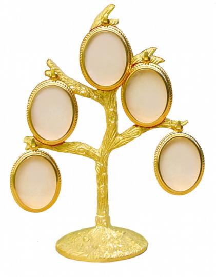 Familienbaum aus Messing.