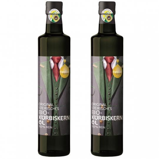 Fandler. Steirisches Bio-Kürbiskernöl-Duo, 2 x 250 ml, Bio-Zert.