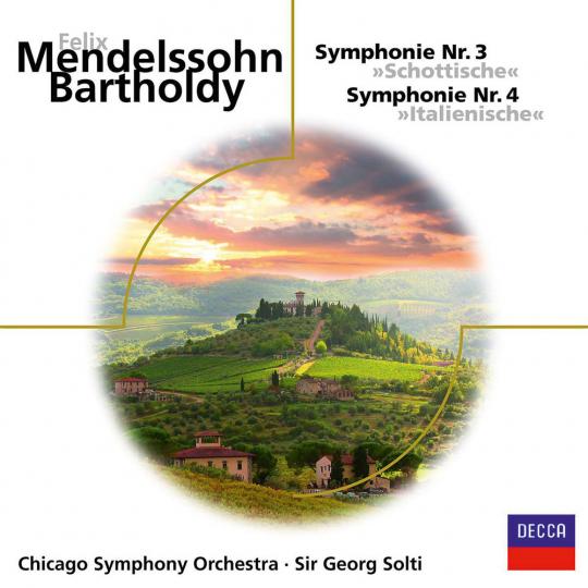 Felix Mendelssohn Bartholdy. Symphonien Nr.3 & 4. CD.