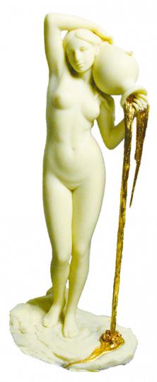 Figur Griechische Nackte mit Krug