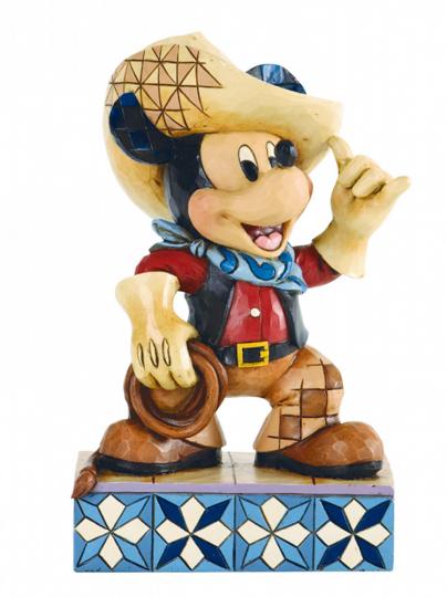 Figur Mickey als Cowboy