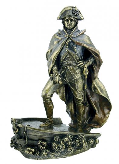 Figur Washington überquert den Delaware