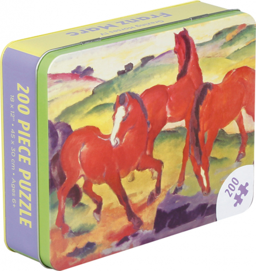 Franz Marc Grazing Horses IV. Puzzle mit 200 Teilen.