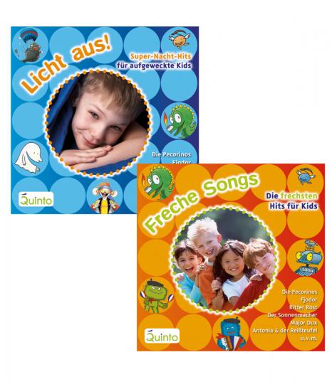 Freche Songs und Licht aus! Hits für Kids. 2 CDs.