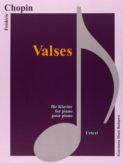 Frédéric Chopin. Valses. Noten für Klavier.