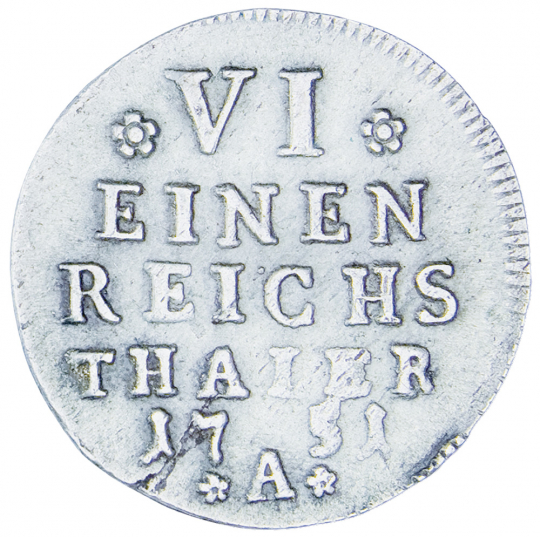 Friedrich II. Münze - 1/6 Silbertaler