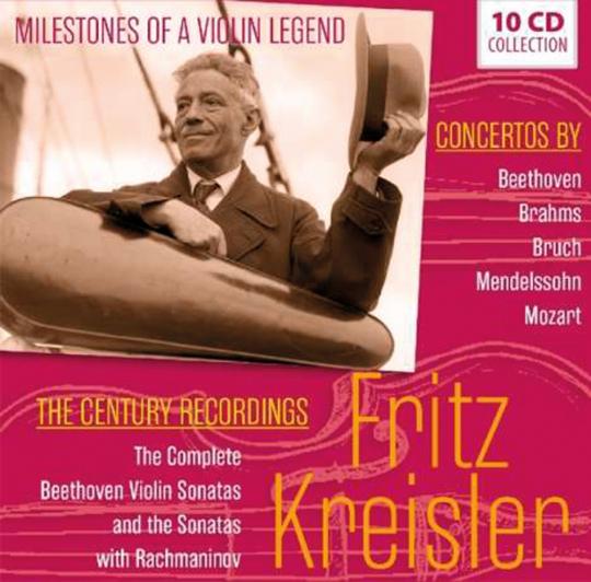 Fritz Kreisler. Milestones of a Violin Legend. 10 CDs.