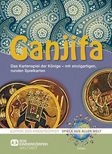 Ganjifa: Das Kartenspiel der Könige – mit einzigartigen, runden Spielkarten
